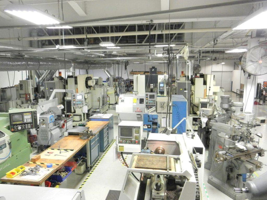 Precise Components shop floor